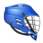 Lacrosse Helmet Side View - stock illustration