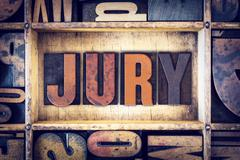 Jury Concept Letterpress Type - stock photo