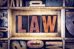 Law Concept Letterpress Type - stock photo