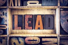 Lead Concept Letterpress Type - stock photo