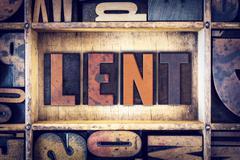 Lent Concept Letterpress Type - stock photo