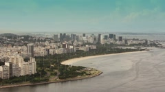 Flamengo Park Traffic and landscape, Rio de Janeiro - 1080p Stock Footage
