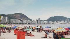 Copacabana Beach Summer day, Rio de Janeiro - 1080p Stock Footage