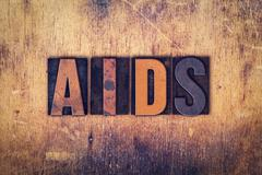 AIDS Concept Wooden Letterpress Type Stock Photos