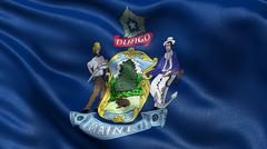 US state flag of Maine - stock photo
