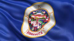 US state flag of Minnesota Stock Photos