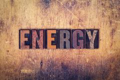Energy Concept Wooden Letterpress Type - stock photo