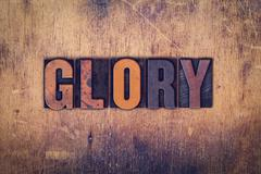 Glory Concept Wooden Letterpress Type Stock Photos