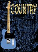 Country Pickin Guitar Poster Stock Illustration