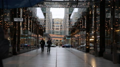 DC Shops in the Rain at Christmas  - stock footage