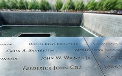 9/11 memorial at Ground Zero, New York Stock Photos