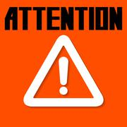 Attention sign. Stock Illustration