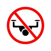 drone ban. - stock illustration