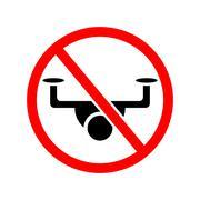 Drone ban. Stock Illustration