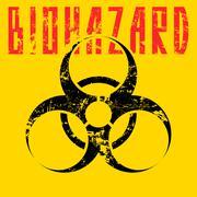 biohazard sign. - stock illustration