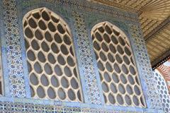 Arabesque Windows of the Topkapi palace Stock Photos