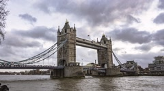 Timelapse view of the iconic Tower Bridge Stock Footage