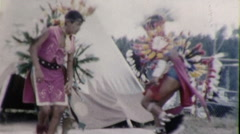 BOYS Native American INDIANS DANCE Dancing 1950s Vintage Film Home Movie 9286 Stock Footage