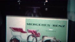1969: Kid builds Mercedes Benz model car toy box. BOULDER, COLORADO Stock Footage