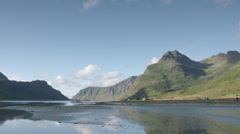 Lake water norway nature lofoten Stock Footage
