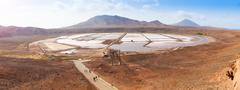 Panoramic view of Salinas  in Sal Cape Verde - Cabo Verde - stock photo