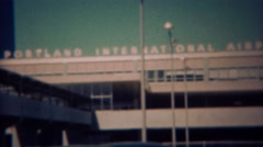 1959: Portland International Airport newly built transportation hub of the west Stock Footage