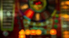 Fruit machine gambling casino Stock Footage
