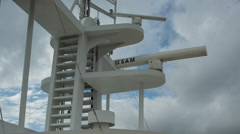 Radar shipping passenger ferry transportation navigation Stock Footage