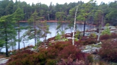 View at finnish nature, forrest and a lake, at Raasepori in Uusimaa, Finland Stock Footage
