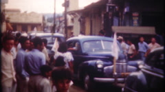 Busy streets of San Juan Puerto Rico - 3108 vintage film home movie Stock Footage