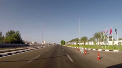 Autotravel in Egypt. View from moving car Stock Footage