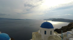 Traditional greece church on santorni Stock Footage