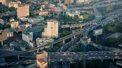 Massive Road System Through City In Afternoon Stock Footage