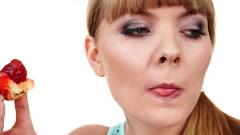 Stock Video Footage of Woman eating cupcake sweet food 4K