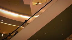 People On Escalator In Shopping Mall - stock footage