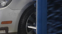 Car Wash Tire Close Up Stock Footage