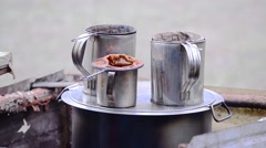 Equipment for make Thai style coffee. Stock Footage