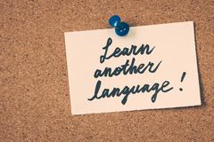 learn another language - stock photo