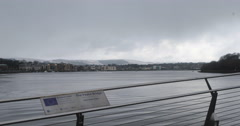 Derry waterfront Stock Footage