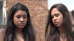 Sad Teen Hispanic Girls - stock footage