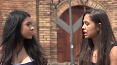 Teen Girls Having an Argument Stock Footage