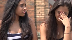 Teen Girl Crying with Friend Stock Footage