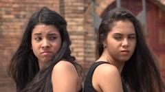 Teen Girls Having a Dispute - stock footage