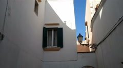 Traditional courtyard in the historic centre of Gallipoli, Italy - stock footage