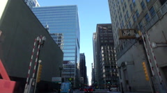 Time Lapse Drive through streets of Chicago Downtown - stock footage