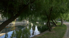 Chios Lake in Central Park, Cluj-Napoca Stock Footage