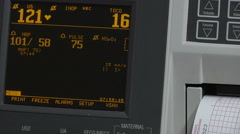 Hospital Baby Stat Monitor Stock Footage