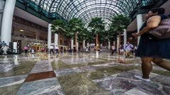 Timelapse of people walking at the lobby, Manhattan, New York City - stock footage