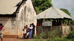 Africa school native village Stock Footage