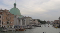 View of Chiesa di San Geremia and the Grand Canal in Venice Stock Footage